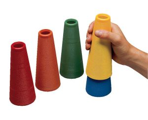 LOT DE 5 MINI CONES EMPILABLES